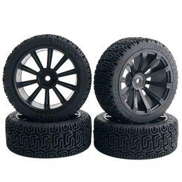 Electric Road Cars UK - 4pcs RC HSP 601-8014 Flat Racing Tires Tyre Wheel Rim Fit HPI 1:10 On-Road Car