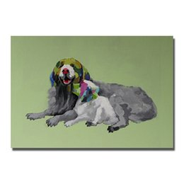 $enCountryForm.capitalKeyWord NZ - Free shipping hand drawing pet dog and women sex oil painting for wholesale Home Decor Wall Painting Art