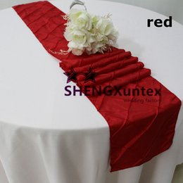 $enCountryForm.capitalKeyWord NZ - Best Quality And Price Pintuck Taffeta Table Runner Used On Table Cloth Free Shipping