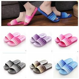 Discount indoor brick flooring - summer anti-slip bath Beach Slippers Shoes Summer Soft Sandalias Beach Slippers Casual bath couple indoor PVC sandals KK