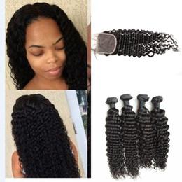 Peerless virgin hair online shopping - Peerless Indian Virgin Hair With Closure natural black Indian Deep Wave Human Hair Bundles With Closure G EASY