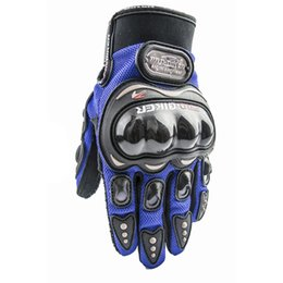 Discount glove pro biker - Wholesale- PRO-BIKER MCS-01C motorcycle gloves electric bicycle full finger bicycle gloves drop resistance gloves GPCS01