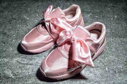 Bow shoes flats online shopping - With Box Cheap New Summer X Fenty Bandana Slide Sneakers Shoes Women Bow Tie Green Pink Rihanna Sneakers Sports Shoes