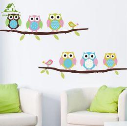 $enCountryForm.capitalKeyWord NZ - Wholesale- Animal cartoon owl tree vinyl wall stickers for kids rooms boys girl home decor sofa living wall decals child sticker wallpaper