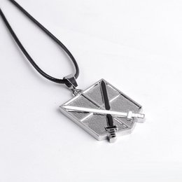 $enCountryForm.capitalKeyWord Canada - Attack on Titan Jewelry Shingeki no Kyojin Scout Regiment Wings of Liberty bagge pendant Necklace anime jewelry Gift for men women