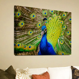 Green Peacock Animal Giclee Print Canvas Wall Art For Home Decor Perfect Wall  Decorations For Living Room Bedroom Office