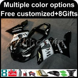 $enCountryForm.capitalKeyWord NZ - 23colors+8Gifts WEST BLACK motorcycle cowl for Yamaha YZF-R1 1998-1999 98 99 YZFR1 1998 1999 98-99 ABS Plastic Fairing