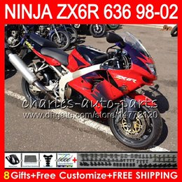 Red black kawasaki zx6R online shopping - red black Gifts For KAWASAKI NINJA ZX6R ZX636 ZX R ZX NO33 CC ZX ZX R Fairing kit