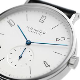 Venta al por mayor de Al por mayor-Mujeres Relojes marca NOMOS hombres y mujeres correa de cuero de diseño minimalista Mujeres moda simple cuarzo relojes resistentes al agua