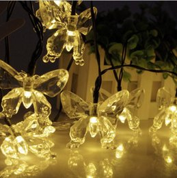 butterfly solar string lights 20 led waterproof christmas lights decorative lighting for indoor outdoor home fence garden patio lawn