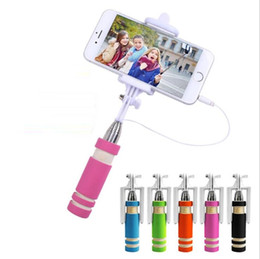 Portable camera timer online shopping - Mobile phone mini line Selfie stick control smart portable remote control self timer pole portable telescopic camera artifact