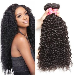Discount chinese curly hair - Brazilian Human Remy Virgin Hair Jerry Curly Hair Weaves Natural Color 100g bundle Double Wefts 4Bundles lot Hair Extens