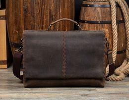$enCountryForm.capitalKeyWord Canada - High quality designer handbags Men's 15 inch laptop bag genuine leather messenger bags men travel school bags leisure bags