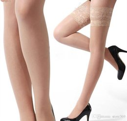 Pink Over Knee Socks Canada - New Sexy Lace Suspender Stockings Summer Girls Long Socks Over Knee Silk Stocking Thigh-Highs Stockings Lace Stocking Top Solid