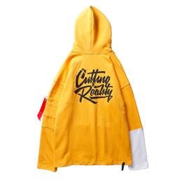 $enCountryForm.capitalKeyWord Canada - Color Block Patchwork Hoodies 2017 Autumn Mens Sleeves Zipper Pocket Sweatshirts Hip Hop Swag Streetwear Yellow Black