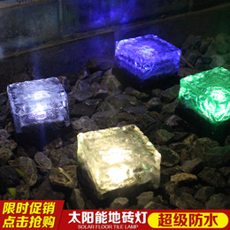 Solar Lamp Glass Lamp LED Buried Ice Brick Tiles Outdoor Solar Lights