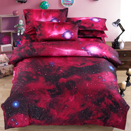 China 2017 New 3D bedding four sets stars simple dream fantasy sky bed sheets quilt bedding 4 sets supplier sky bedding suppliers