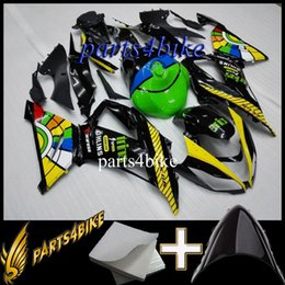 Red Black Kawasaki Zx6r NZ - ABS Fairing for Kawasaki ZX6R 12 13 ZX-6R 2012 2013 12 13 green yellow black Motorcycle Body Aftermarket Plastic