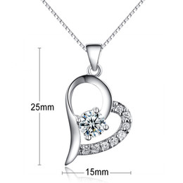 Discount silver jewellery necklace designs - new tiny heart shaped pendant charm genuine 925 sterling silver jewelry new design heart pendant jewellery China for sal