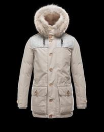 Men S Long Parkas Canada - Top top quality Winter Jacket Men Fashion Coat Hombre Fur Collar Comfortable internal fur Zipper Outerwear Duck Feather Long Parka