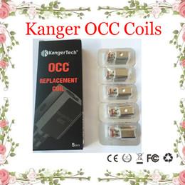 E Zigaretten Kanger Vertikale Subtank OCC Spule Verbesserte Subtank Spule 0.5 / 1.2 / 1.5ohm passen Kangertech Subtank Mini Nano Ecigarette Atomizer im Angebot
