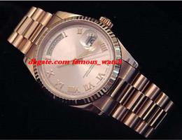 $enCountryForm.capitalKeyWord Australia - New Fashion Luxury Stainless Steel Bracelet 18k Rose Gold w Rose Roman Dial 118235 41mm Automatic Mechanical Movement MAN WATCH Wristwatch