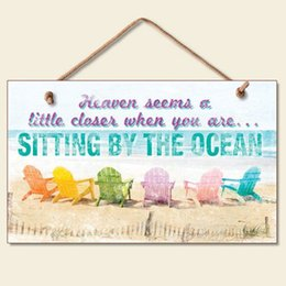 Wood Sign Plaque   Sitting By Ocean Beach Chair Sign Colorful Tropical  Chalkboard Sign Coastal Wall Decor