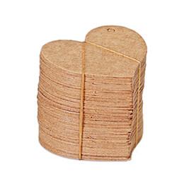 $enCountryForm.capitalKeyWord Australia - HENGHOME 50pcs set Blank Heart Shape Craft Paper Hang Tag Wedding Party Label Price Gift Cards Decoration Bookmark 4.5*4cm
