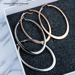 Gold Timeless NZ - Classic Elliptical Shape Design Rose Gold Color Timeless Styling Lady Trendsetter Hoop Earrings