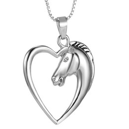 Necklaces Pendants Canada - Fashion charm pendant necklace heart-shaped hollow horse animal creative high quality cheap wholesale