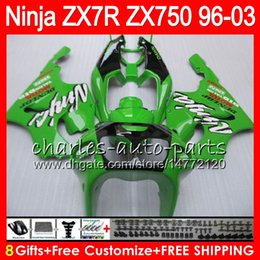1999 Kawasaki Zx7r NZ - 8Gifts 23Colors For KAWASAKI NINJA ZX7R 96 97 98 99 00 01 02 03 18HM11 green black ZX750 ZX 7R ZX-7R 1996 1997 1998 1999 2000 2003 Fairing