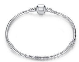 $enCountryForm.capitalKeyWord Canada - 3mm 16-23cm 925 Silver Plated Bracelet Snake Chain with Barrel Clasp Fit European Beads Pandora Bracelets DIY