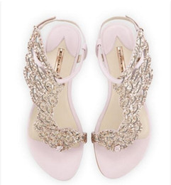2017 sexy women gold rhinestone sandal gladiator sandals flat heel wings  sandals wedding shoes glitter party shoe butterfly shoes