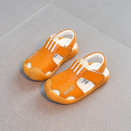 Brown Toddler Sandals Australia - 2017 Summer 0-1 baby soft bottom Baotou toddler sandals male 1-3 year old female child baby shoes