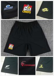 Barato Calções Dhl-Mais novo Nova Zelândia All Blacks Chiefs rugby jersey Crusaders 17 18 Hurricanes Sports pants Highlanders Blues rugby Shorts DHL free shipping