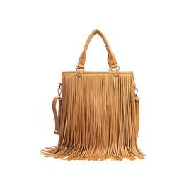 Discount wholesale leather fringe bags - Wholesale- Women Fashion Handbags New Vintage Messenger Bags Large capacity Shoulder Bag Tassel fringe Popular Cross Bod