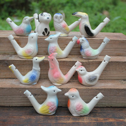 China 200pcs new arrival water bird whistle clay bird ceramic Glazed bird whistle-peacock Birds Free Shipping #001 suppliers