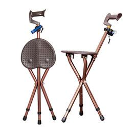 $enCountryForm.capitalKeyWord NZ - Camping Adjustable Folding Walking Cane Chair Stool Massage Walking Stick with Seat Portable Fishing Rest Stool