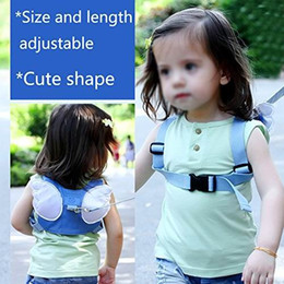 Sacs À Dos Bébé Bleu Pas Cher-2 Pack Harnais de sécurité Sac à dos Wings Baby Kids Sac à dos anti-perte Mini Sac de sécurité de voyage Walking Harness Reins Toddler Child Strap Ba