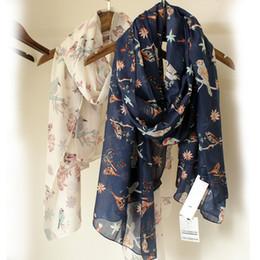 $enCountryForm.capitalKeyWord NZ - Fashion Women Cotton Viscose Birds Scarf Summer Sarong Elegant Print Shawl Cosy Lady Scarves And Shawl Muslim Head Scarfs Wraps