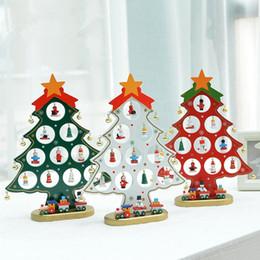 discount mini wood christmas trees wholesale xmas gift 1pc mini table xmas trees decoration wood - Christmas Trees Wholesale