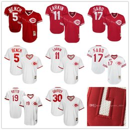 0bacdff2a1e ... Batting Practice Cincinnati Reds Johnny Bench Barry Larkin Chris Sabo Mitchell  Ness Red 1983 Authentic Cooperstown Collection Mesh ...