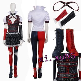 $enCountryForm.capitalKeyWord Canada - Harley Quinn COS From Batman Suicide Squad Harley Quinn Cosplay Costume Dress Leggings Boots Any Size Custom Made