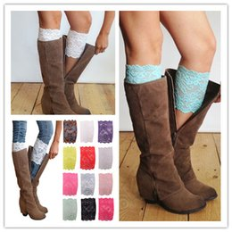 Wholesale New Lace Leg Warmers Flower Lace Boot Cuffs Women Fashion Stretch Trim Toppers Short Boot Socks Wedding Bride Chirstmas Foot Cover Socks