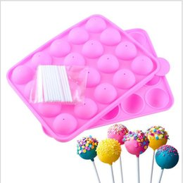Chinese  Pink Silicone Tray Pop Cake Stick Pops Mould Cupcake Baking Mold Party Kitchen Tools 22.5*4*18cm manufacturers