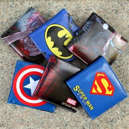 Marvels wallet online shopping - superhero wallets marvel wallet styles the avengers wallets card Holder Cartoon students wallets Superman Batman Wallet Xmas gift D194