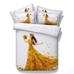 $enCountryForm.capitalKeyWord Canada - 5 Styles Maple Girl 3D Printed Bedding Sets Twin Full Queen King Size Bedspread Bedclothes Duvet Cover Sets Bedroom Mermaid Girl Adult Gift