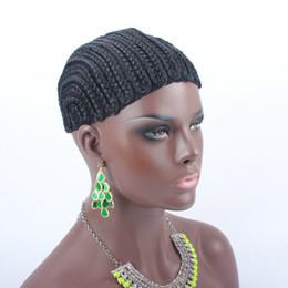 Glueless Wig Braids For Australia - Crochet Braids Hair Wig Cap Crochet Wig Caps Easy Sew In Cornrows Cap Elastic Crochet Braids Glueless Wig Braided Caps For Making Wigs