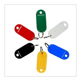 China HotSelling Keychains Colorful Key ID Label Plastic Key Tags ID Label Tags Split Ring Keyring Keychain Fashion Accessories Free Shipping cheap label keychains suppliers