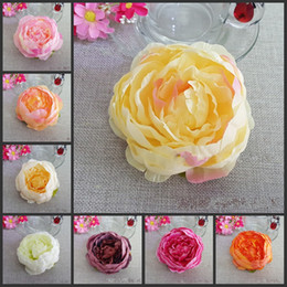 100 Pcs Dia 10cm Artificial Fabric Silk Peony Flower Heads For Diy Home  Decor Vine Wedding Arch Wall Flower Accessories
